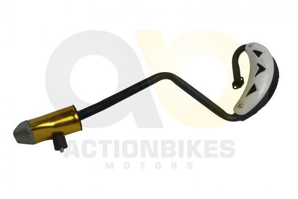 Actionbikes Mini-Cross-Delta-Auspuff-NEUE-VERSION-mit-weiem-Hitzeschutzblech 48442D3130302D3031322D3