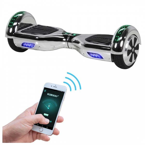 Actionbikes Robway-w1 Silber-chrom 3536343332353633 Actionsbikes-Robway-Hoverboard-W1-neu-Startbild
